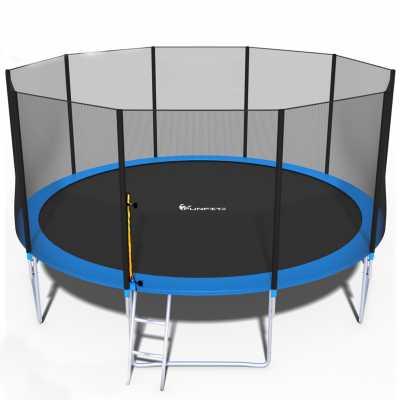 Комплект Батут с мрежа и стълба FunFit 465 см.