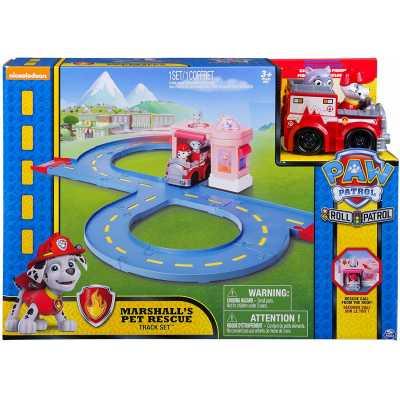 Пес Патрул комплект за игра Писта с  пожарна кола на Маршал Paw Patrol