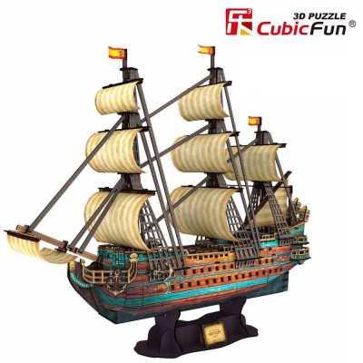 Пъзел 3D Кораба Сан Фелипе 1:110 248ч. Cubic Fun T4017h