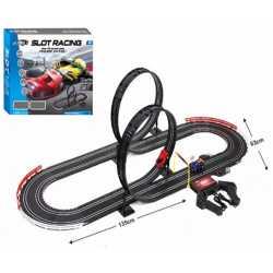 Състезателна писта  555 см. Slot Racing с 2 коли 1:43 и 2 лупинга OCIE OTC0873173