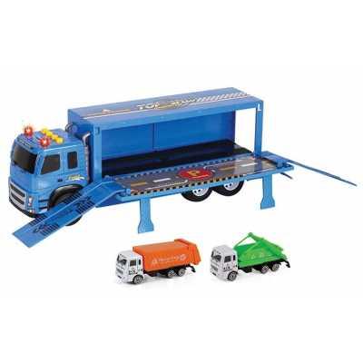 Камион с рампа с 2 бр. мини камиони за боклук Ocie OTB0568495