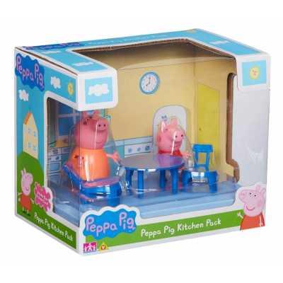 Игрален комплект Peppa Pig Прасе Пепа- две фигурки с кухня