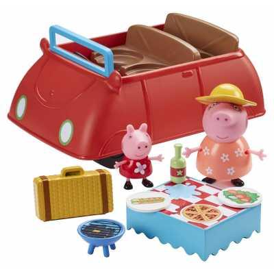 Комплект Голяма кола на Прасе Пепа със звуци, 2 бр. фигурки и пикник оборудване Peppa Pig