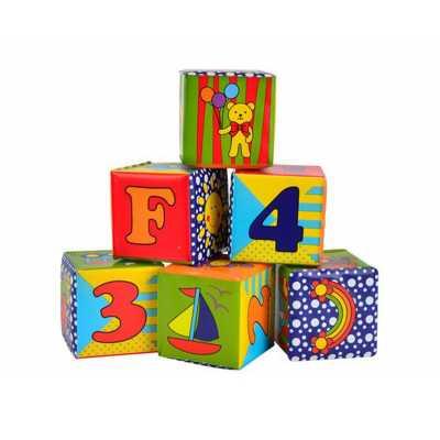 Меки кубчета за игра Simba ABC, 7х7см