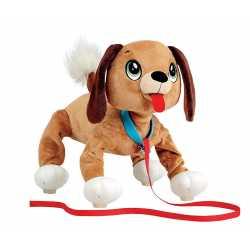 Плюшен любимец Баунси за разходка навън - кафяво кученце Peppy Pets