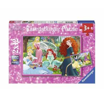 Puzzle Ravensburger 2 х 12 Disney Princess 07620