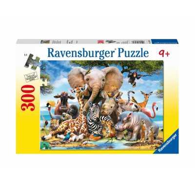 Ravensburger Puzzle 13075 - African Friends 300p