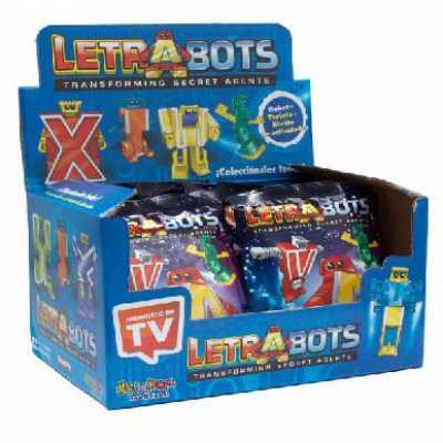 Комплект 2 бр. Алфа Ботс букви джобни трансформъри Letrabots Alfa bots