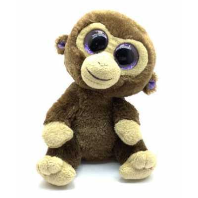 Плюшена играчка Маймунка с големи очи, 15 см.
