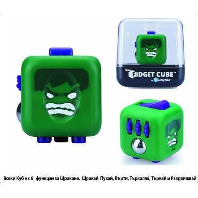 Оригинален антистрес фиджет куб с любими анимационни герои Хълк Hulk