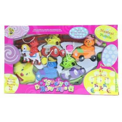 Музикална въртележка за бебешко легло 5 животни и коли