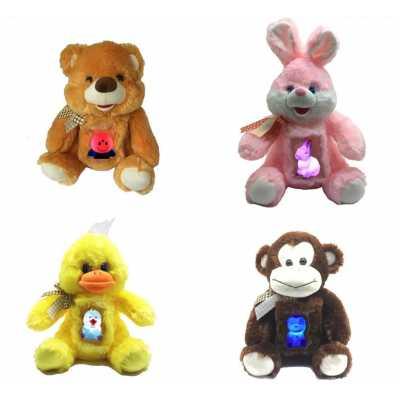 Плюшени играчки Светулки 30 см Мече Зайче Пате Маймуна
