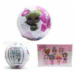 Кукла ЛОЛ лимитирана серия с блясък Glitter, колекция 9 изненади, 10 см топка LOL