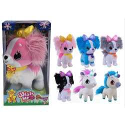 Уишми - светещи плюшени играчки пазители на мечти Wish me 6 вида 30 см. Еднорог Куче