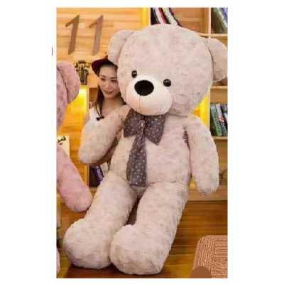 Огромен плюшен мечок с панделка 90 см.