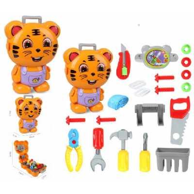 Професии комплект детски инструменти Млад механик в куфар Тигър 23 части