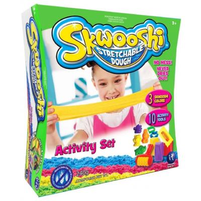 Моделин Скуши комплект с десет части 3 цвята Skwooshi