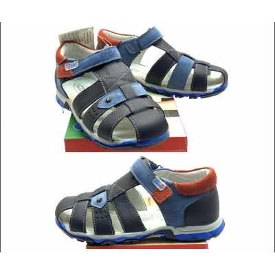 Детски сандали Chippo от естествена кожа в синьо  - размер 26 - 31
