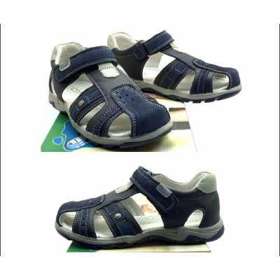 Детски сандали Chippo от естествена кожа в синьо - размер 31 - 36