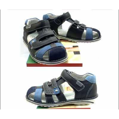 Детски сандал Chippo от естествена кожа в синьо - размер 25-30