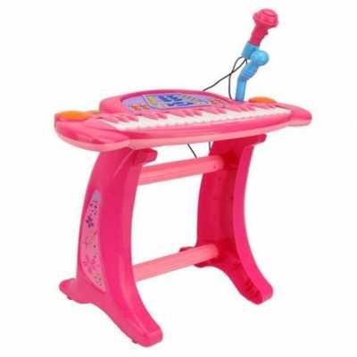 Детска йоника със стойка, микрофон и столче