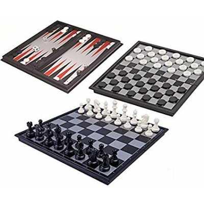 Игра Магнитен борд 3 в 1 Шах, Табла, Дама