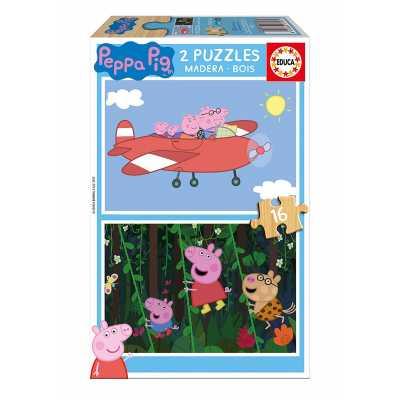 Бебешки пъзел Educa Baby Peppa Pig Прасе Пепа 2 х 16 части
