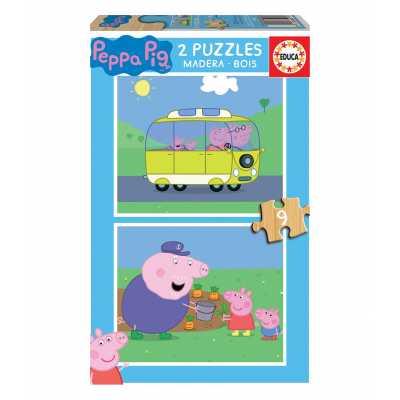 Бебешки пъзел Educa Baby Peppa Pig Прасе Пепа 2 х 9 части