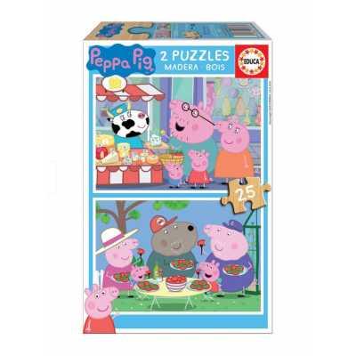 Бебешки пъзел Educa Baby Peppa Pig Прасе Пепа 2 х 25 части