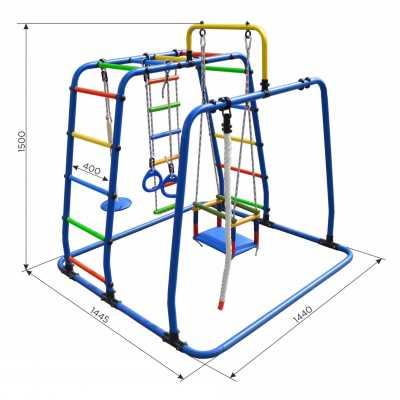 Детска площадка  Игрунок Т Плюс с люлка, бънджи, въжена стълба, метална стълба, гимнастически халки, въже