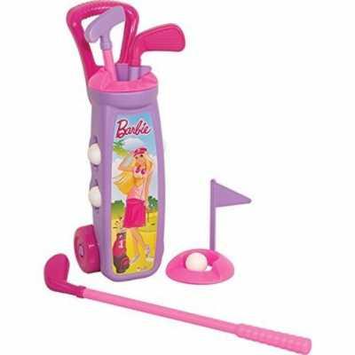 Детски голф комплект с количка Барби Barbie