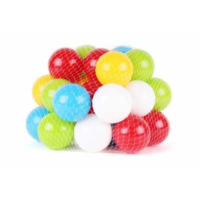 Професионален комплект 30 бр. меки топки 6,5 см., издържащи тегло до 80 кг.