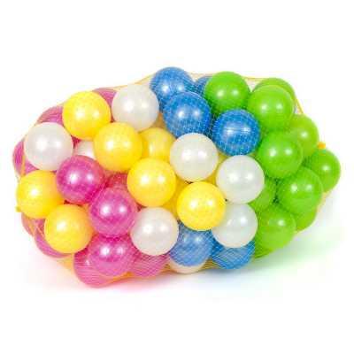 Комплект 32 бр. меки топки 7,5 см. перлени цветове