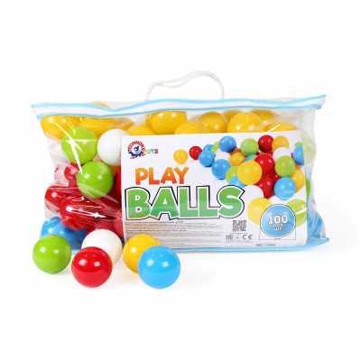Професионален комплект 100 бр. меки топки 6 см., издържащи тегло до 80 кг.