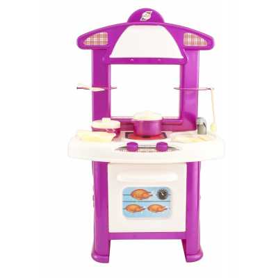 Children's kitchen with cooking accessories 60 x 44 x 11 cm.
