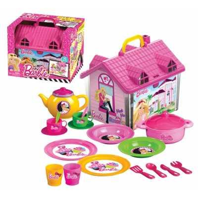 Детска къща за кукли с чаен сервиз Барби Barbie 19 ел.