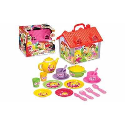 Детска къща за кукли с чаен сервиз Candy 19 ел.