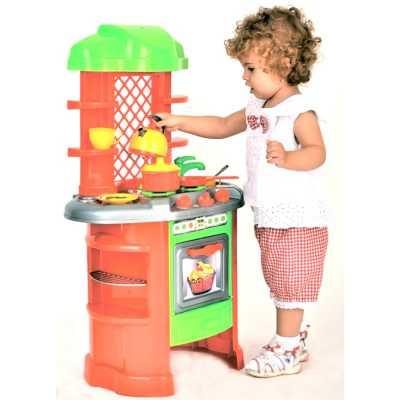 Голяма детска кухня с кухненски аксесоари за готвене 82 х 51 х 30 см.