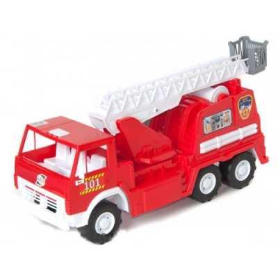 Голяма детска пожарна кола  53 х 26 х 20 см. с въртяща се стълба