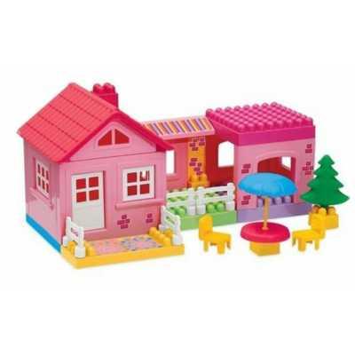 Направи си едноетажна къща - конструктор с едри елементи 36 части