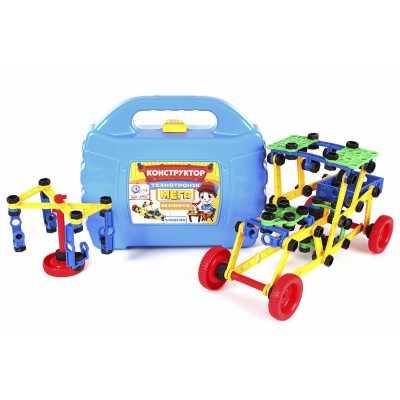 Пластмасов конструктор с гайки и болтове в куфар