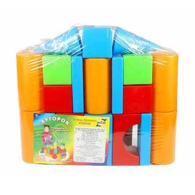Строителен комплект конструктор къща с кубчета 40 х 9 х 60 см.