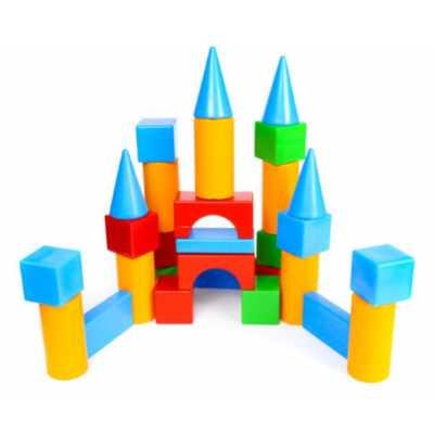 Строителен комплект конструктор къща с кубчета 51 х 9 х 63 см.