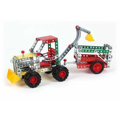 Метален конструктор Трактор с ремарке 265 елемента
