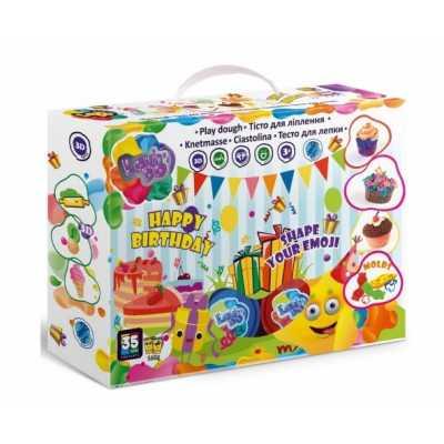 Комплект пластелин Честит рожден ден 20 цвята с преса за форми