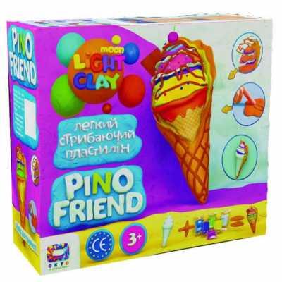 Творчески комплект лек скачащ пластилин Сладолед Pino Friend Icy TM Moon light clay
